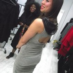 The lovely Rachel Sin in Rachel Sin. Such an edgy dress!