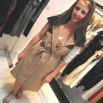 Sophie modelled some Rachel Sin for us! This Trench dress is so Iconic!