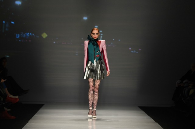 Greta Constantine, Toronto Fashion Week, Fall collection, model